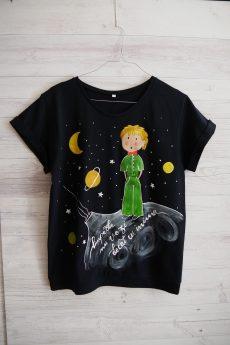 tricou micul print galaxie