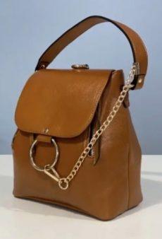 rucsac geanta din piele naturala maro