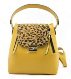 rucsa geanta piele naturala galben safari