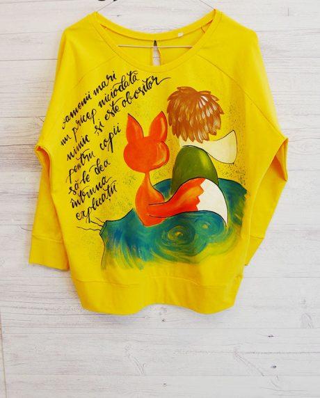 bluza dama galbena pictata cu micul print
