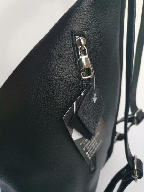 rucsac fashion din piele naturala neagra