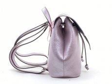 rucsac fashion din piele naturala lila glossy